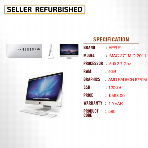 APPLE iMAC 27'' MID 2011
